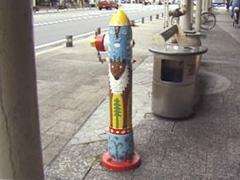 沢田氏が描いた消火栓